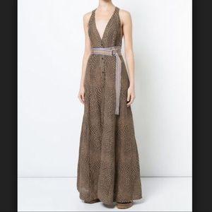 DVF Easton Dot Clay Sleeveless Dress